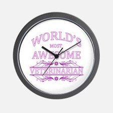 World's Most Awesome Veterinarian Wall Clock