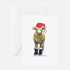 Santa Sheep Greeting Card