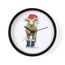 Santa Sheep Wall Clock
