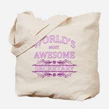 World's Most Awesome Secretary Tote Bag