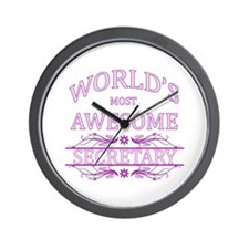 World's Most Awesome Secretary Wall Clock