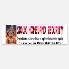 Sitting Bull Sioux Homeland Secur Bumper Bumper Sticker