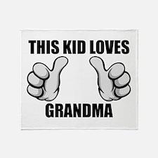 This Kid Loves Grandma Throw Blanket