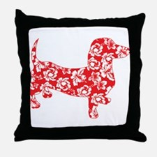Hawaiian Doxie Dachshund Throw Pillow
