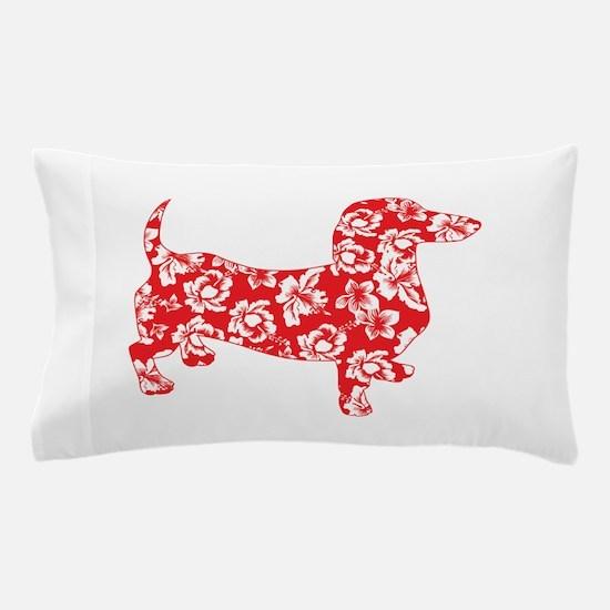Hawaiian Doxie Dachshund Pillow Case