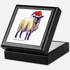 Sheep Holiday Keepsake Box