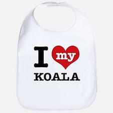 I heart Koala designs Bib