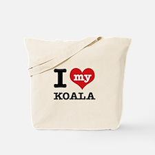 I heart Koala designs Tote Bag