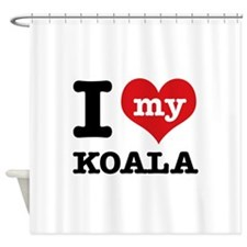 I heart Koala designs Shower Curtain