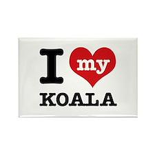 I heart Koala designs Rectangle Magnet