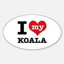 I heart Koala designs Decal