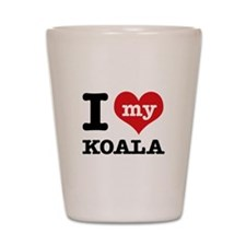 I heart Koala designs Shot Glass