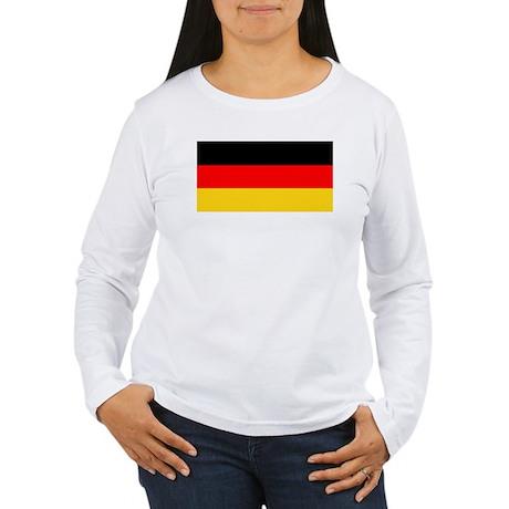 Germany German Flag Women's Long Sleeve T-Shirt