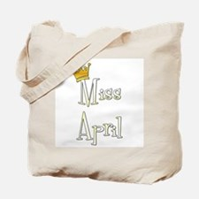 Miss April Tote Bag
