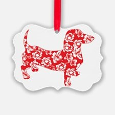 Hawaiian Doxie Dachshund Ornament