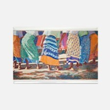 Tracy L Teeter African Colors Rectangle Magnet