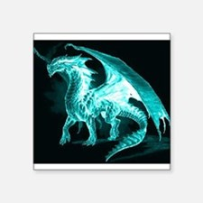 "Ice Dragon Square Sticker 3"" x 3"""
