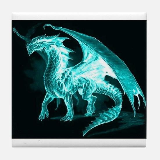 Ice Dragon Tile Coaster