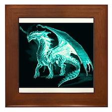 Ice Dragon Framed Tile