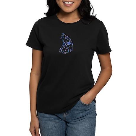 Tribal Wolf Art 9 Women's Dark T-Shirt