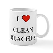 I love Clean Beaches Mug