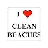 Clean beach Square