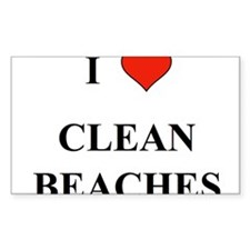 I Love Clean Beaches Decal
