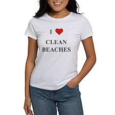 I Love Clean Beaches T-Shirt