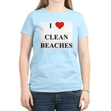 I Love Clean Beaches T-Shirt