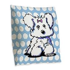 Maltese Pride n' Joy Burlap Throw Pillow