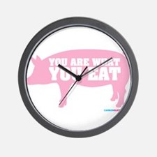 You Are What You Eat Pig Wall Clock