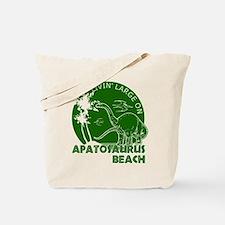 Dinosaur Apatosaurus Beach Tote Bag