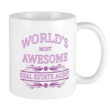 World's Most Awesome Real Estate Agent Mug