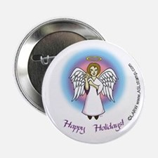 Happy Holidays ILY Angel Button