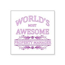 World's Most Awesome Property Manager Square Stick