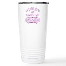 World's Most Awesome Postal Worker Travel Mug