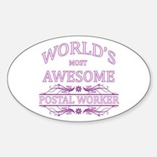 World's Most Awesome Postal Worker Sticker (Oval)