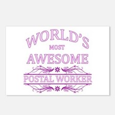 World's Most Awesome Postal Worker Postcards (Pack
