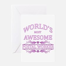 World's Most Awesome Postal Worker Greeting Card