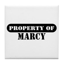Property of Marcy Tile Coaster