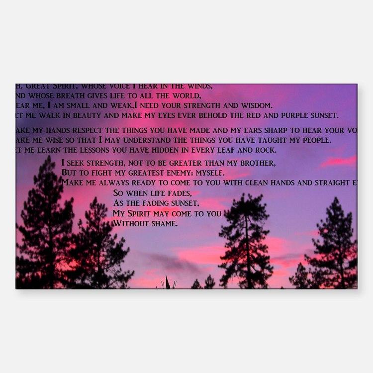 Great Spirit Prayer Decal