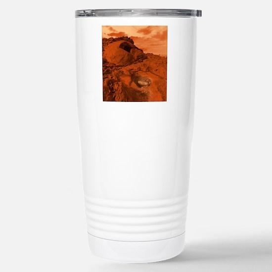 Mars landscape Travel Mug