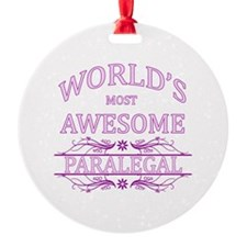 World's Most Awesome Paralegal Ornament