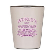 World's Most Awesome Paralegal Shot Glass