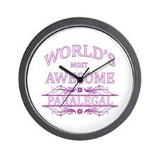 World's Most Awesome Paralegal Wall Clock