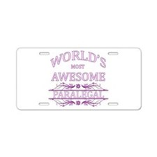 World's Most Awesome Paralegal Aluminum License Pl