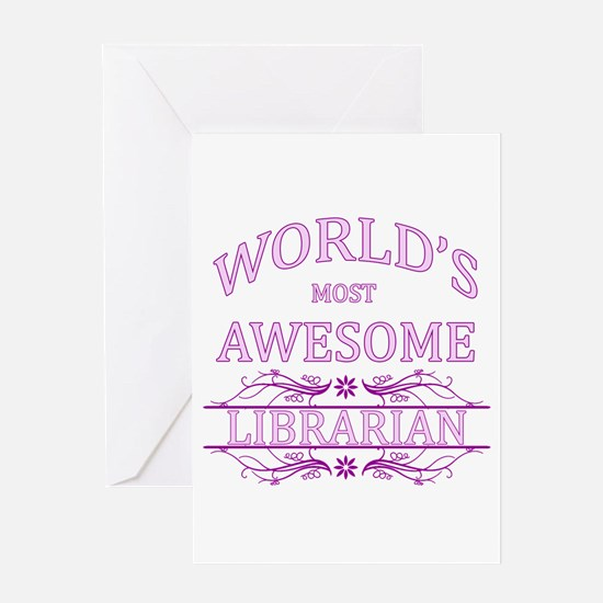 World's Most Awesome Librarian Greeting Card