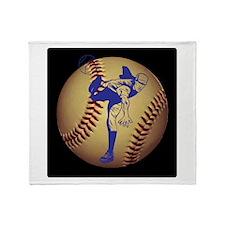 Baseball Pitcher Throw Blanket