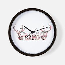 REAL GIRLS WEAR CAMO Wall Clock