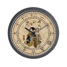 Vintage Japanese Art Woman Wall Clock